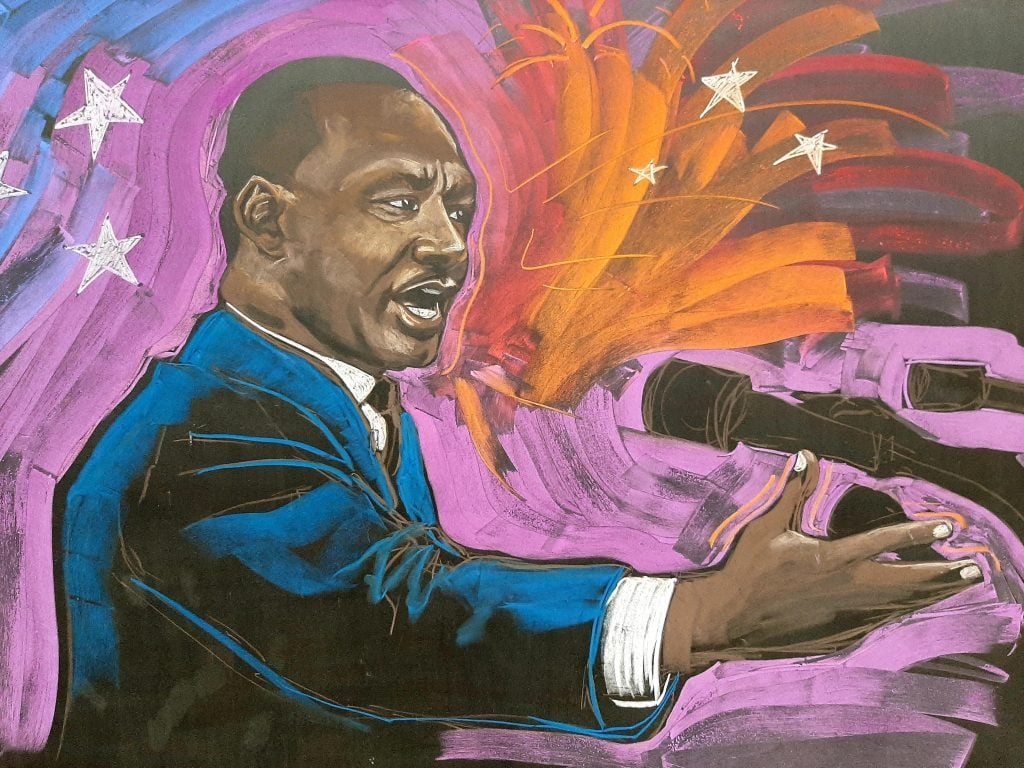 MLK Chalk Drawing